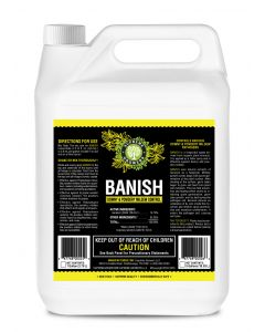 Banish All Natural Fungicide Downey & Powdery Mildew Control Proprietary Mixture of Powerful Natural Geraniol 1 Gallon Concentrate Mixes to 960 Gallons of Non-Toxic Spray