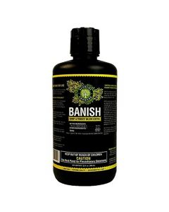 Banish All Natural Fungicide Downey & Powdery Mildew Control Proprietary Mixture of Powerful Natural Geraniol 32oz Concentrate Mixes to 240 Gallons of Non-Toxic Spray