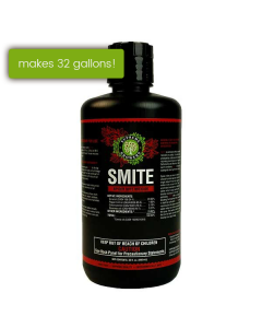 Supreme Growers SMITE Spider Mite Killer, All Natural Pesticide Concentrate, Non-Toxic, Biodegradable, Organic Eco Friendly Pest Control (32oz Concentrate - Makes 32 Gallons)